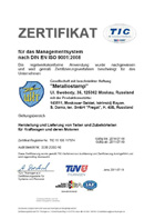 Certificate of conformity ISO 9001:2008
